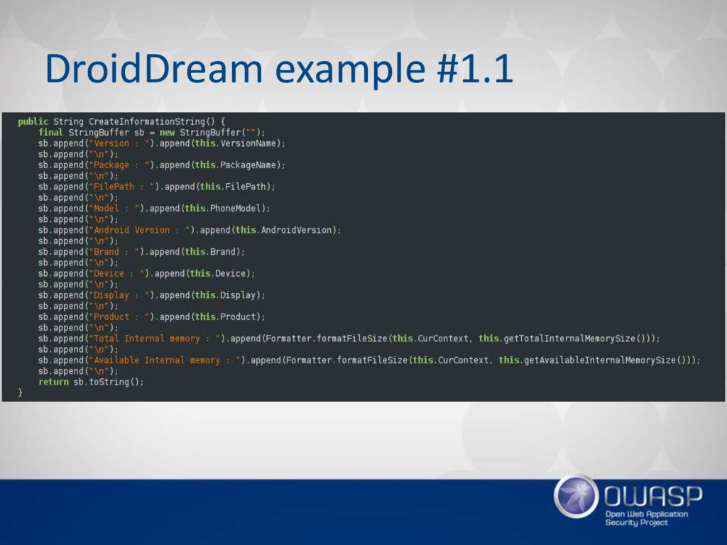 DroidDream example #1.1