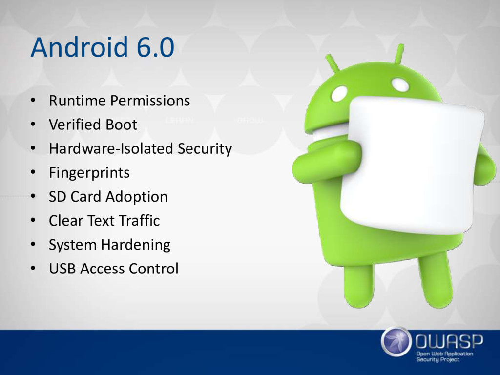 Android 6.0 • Runtime Permissions • Verified Bo...