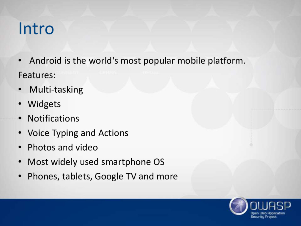 Intro • Android is the world's most popular mob...