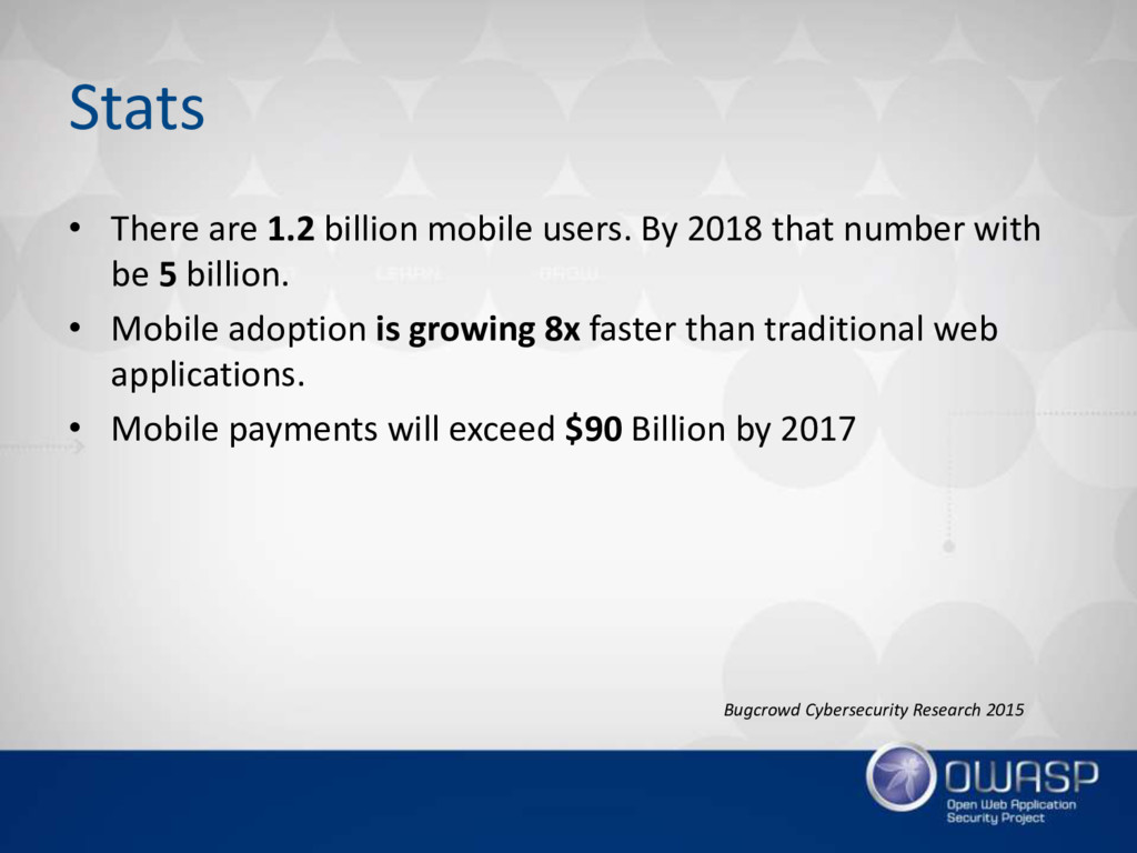 Stats • There are 1.2 billion mobile users. By ...