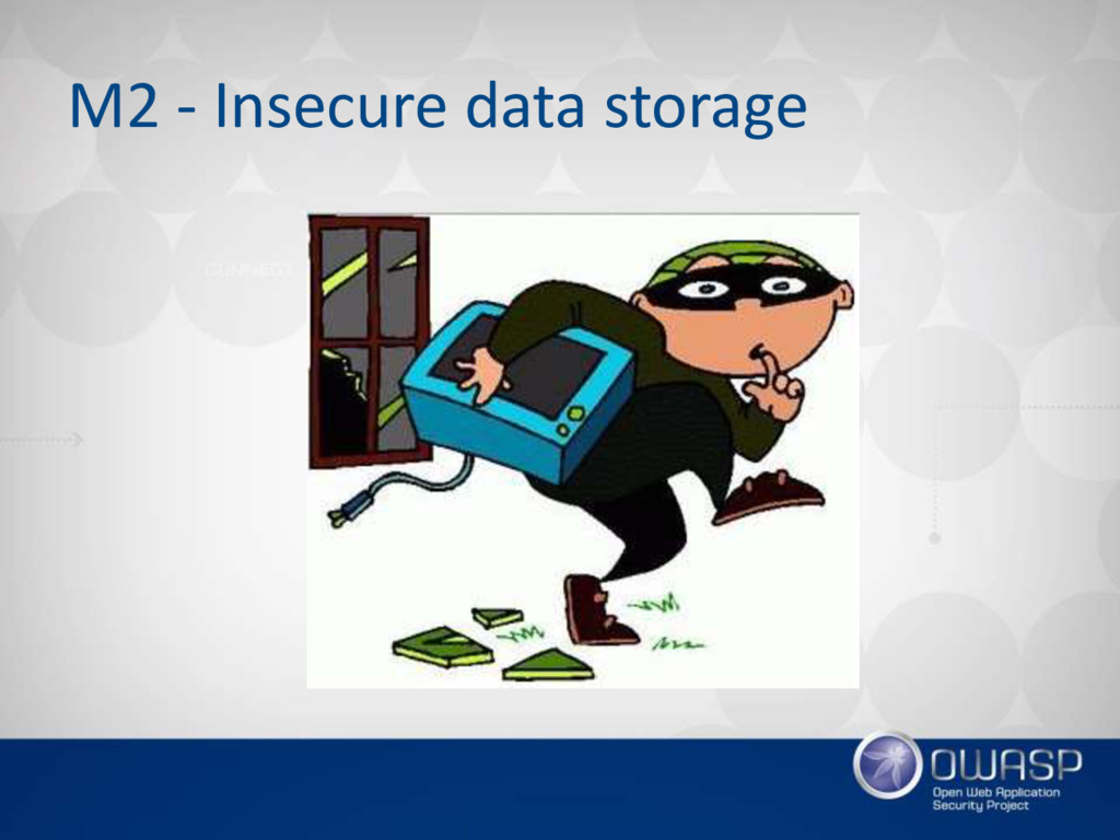 M2 - Insecure data storage