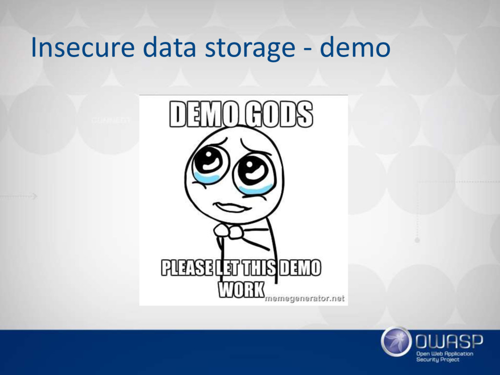 Insecure data storage - demo