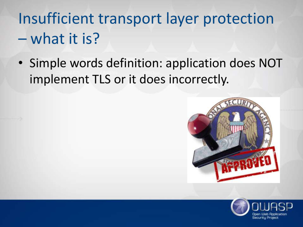 Insufficient transport layer protection – what ...