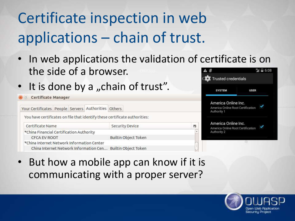 Certificate inspection in web applications – ch...