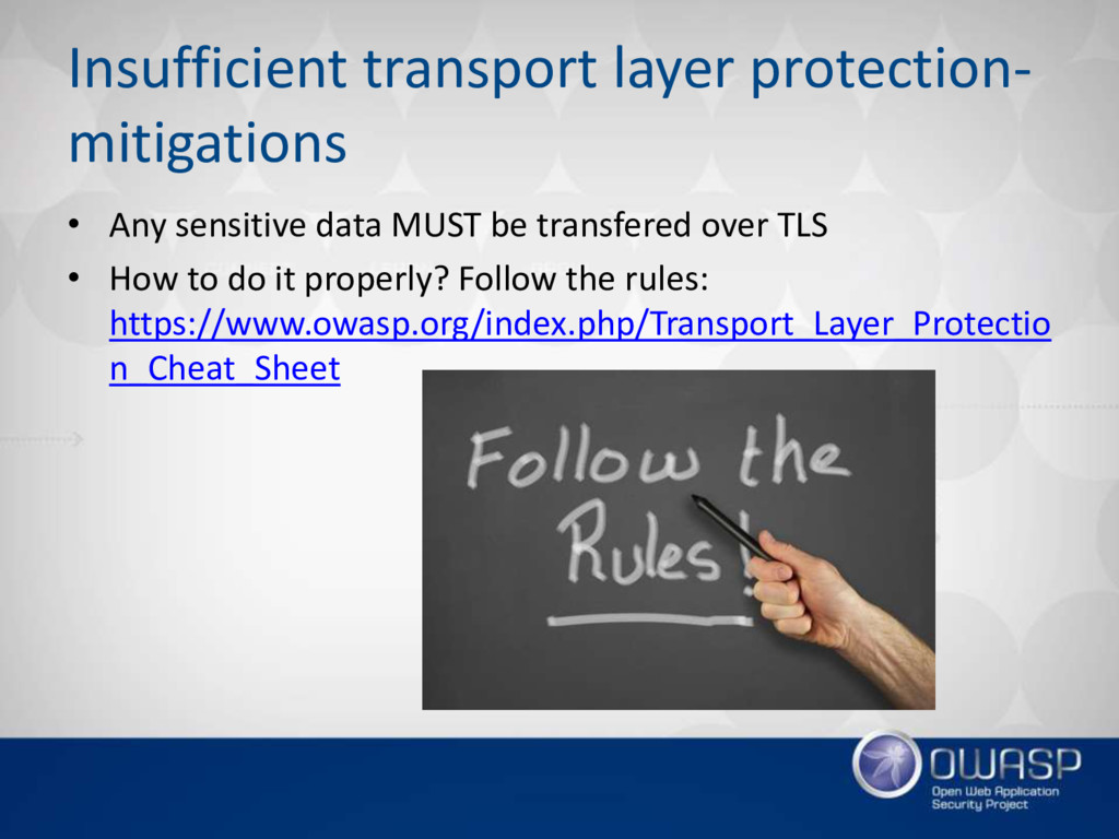 Insufficient transport layer protection- mitiga...