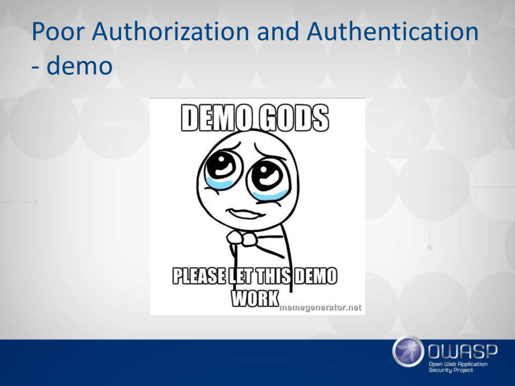 Poor Authorization and Authentication - demo
