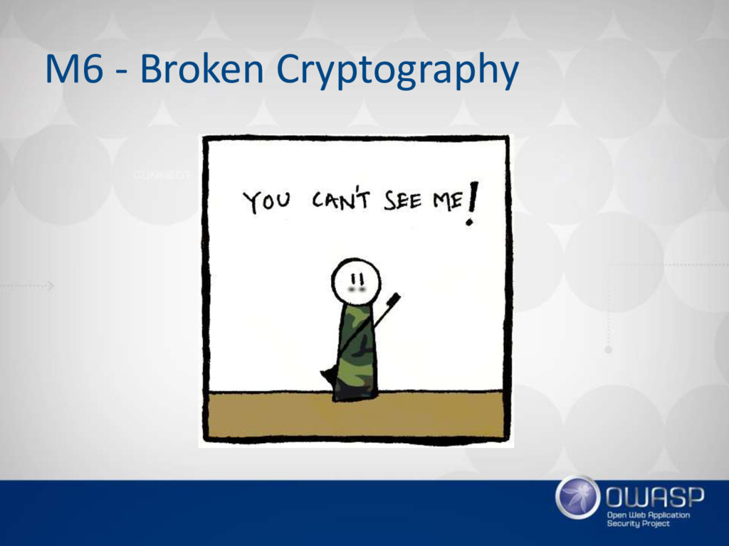 M6 - Broken Cryptography