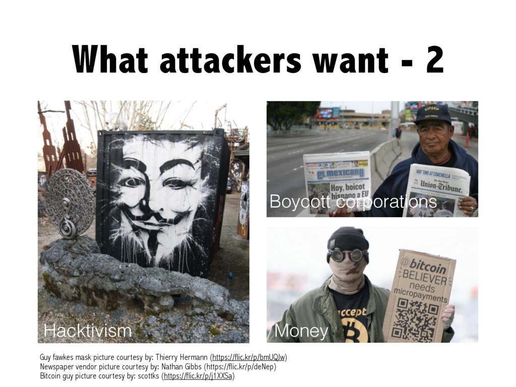 What attackers want - 2 Hacktivism Guy fawkes m...