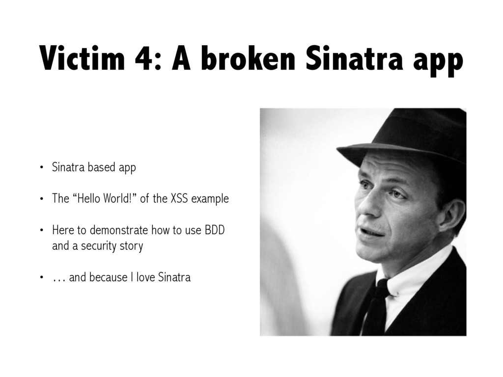 Victim 4: A broken Sinatra app • Sinatra based ...