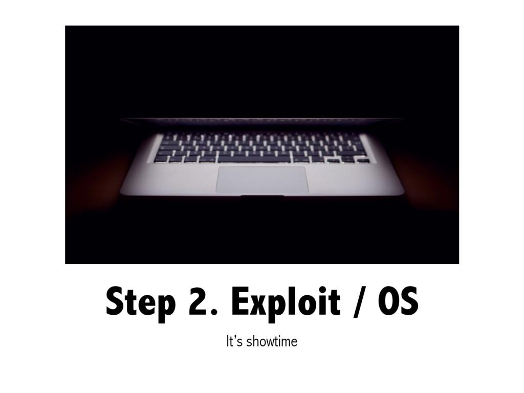 Step 2. Exploit / OS It's showtime