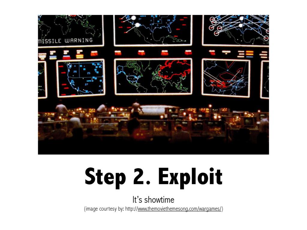 Step 2. Exploit It's showtime (image courtesy b...