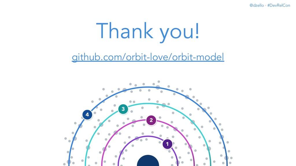 @dzello · #DevRelCon Thank you! github.com/orbi...