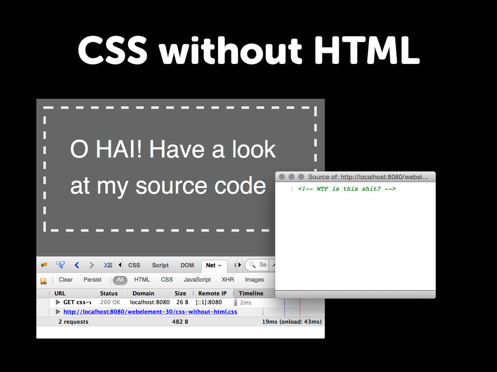 CSS without HTML