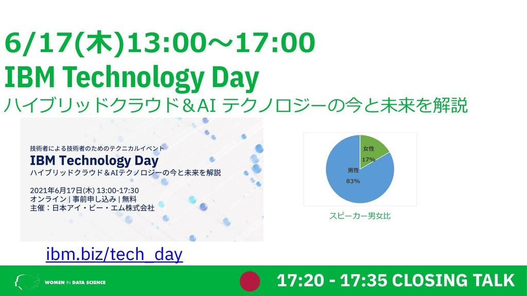 6/17(⽊)13:00〜17:00 IBM Technology Day ハイブリッドクラウ...