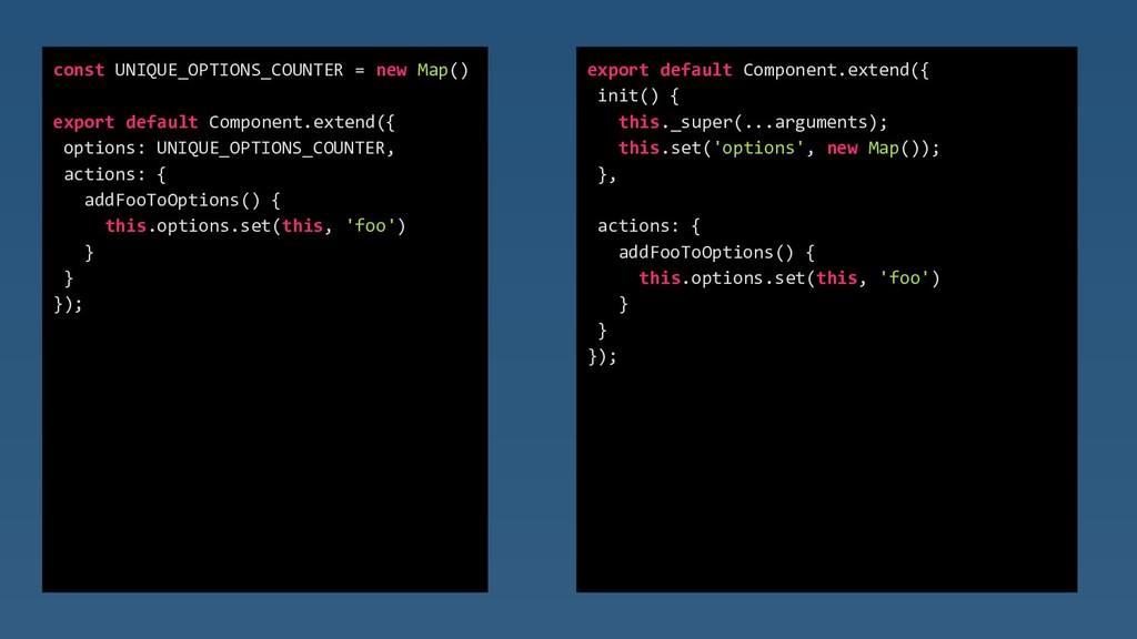 const UNIQUE_OPTIONS_COUNTER = new Map() export...