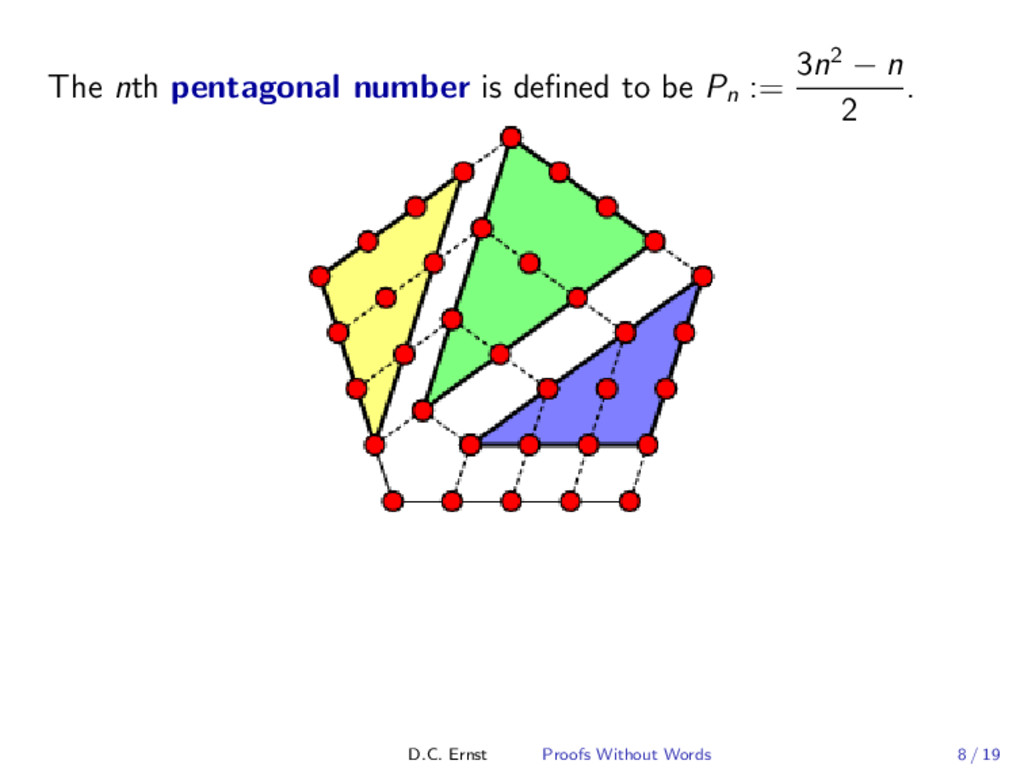 The nth pentagonal number is defined to be Pn :=...