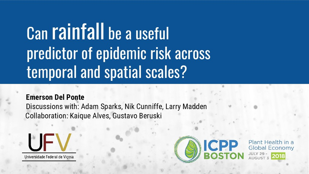 Can rainfall be a useful predictor of epidemic ...
