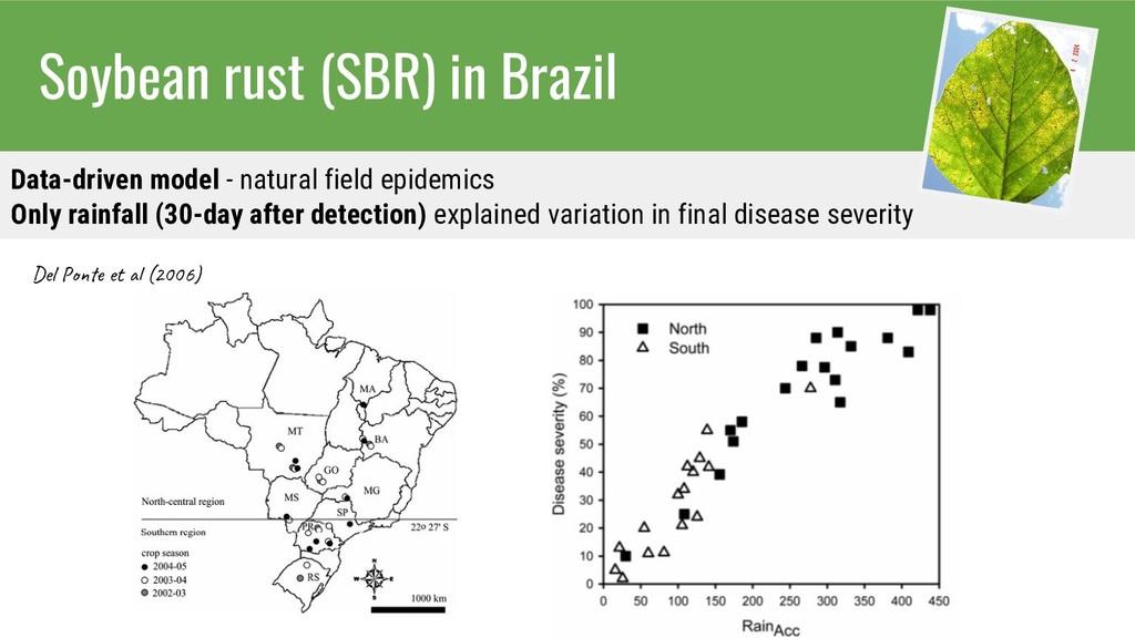 Soybean rust (SBR) in Brazil Data-driven model ...