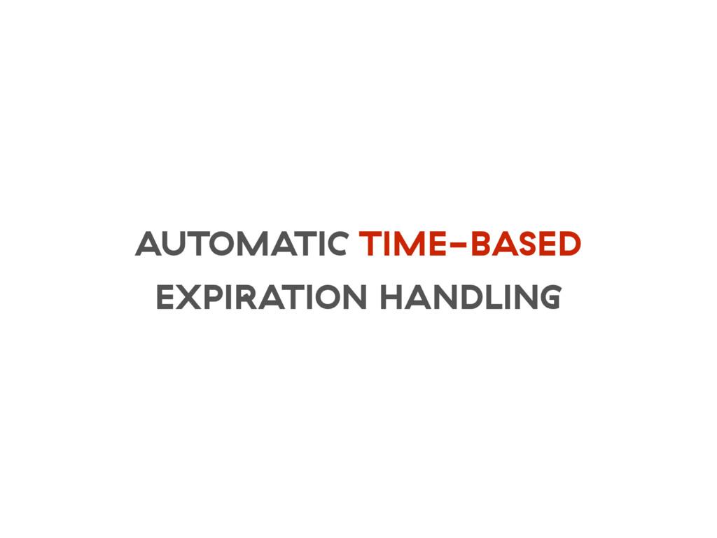 AUTOMATIC TIME-BASED EXPIRATION HANDLING