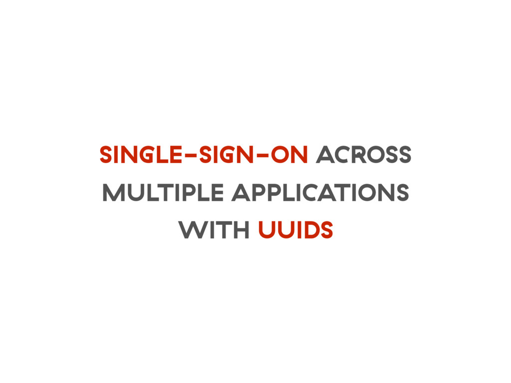 SINGLE-SIGN-ON ACROSS MULTIPLE APPLICATIONS WIT...