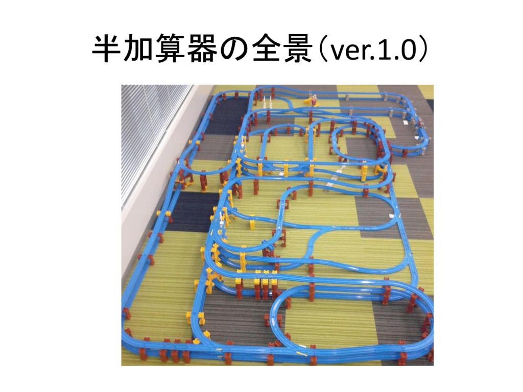 半加算器の全景(ver.1.0)