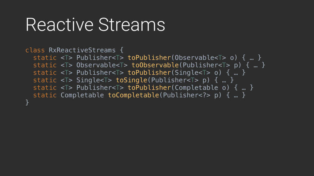 Reactive Streams class RxReactiveStreams {