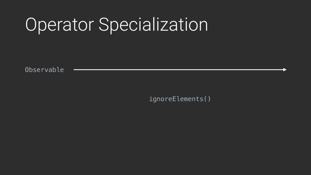 Operator Specialization ignoreElements() Observ...
