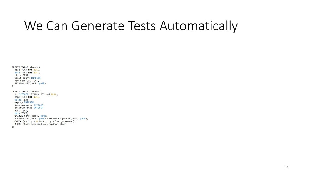 We Can Generate Tests Automatically 13