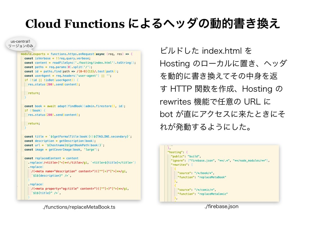 Cloud Functions ʹΑΔϔομͷಈతॻ͖͑ Ϗϧυͨ͠JOEFYIUNM...
