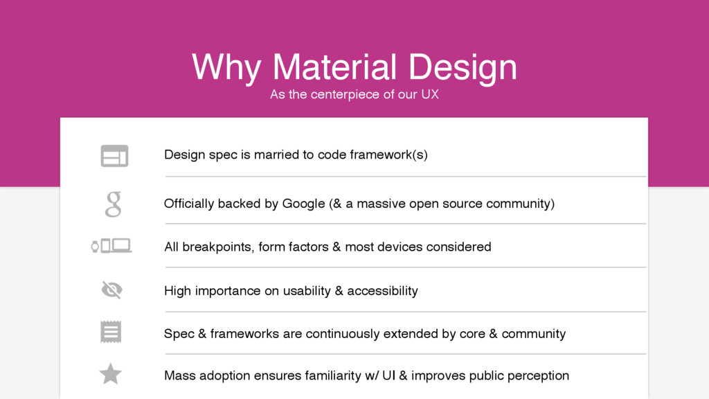 As the centerpiece of our UX Why Material Desig...