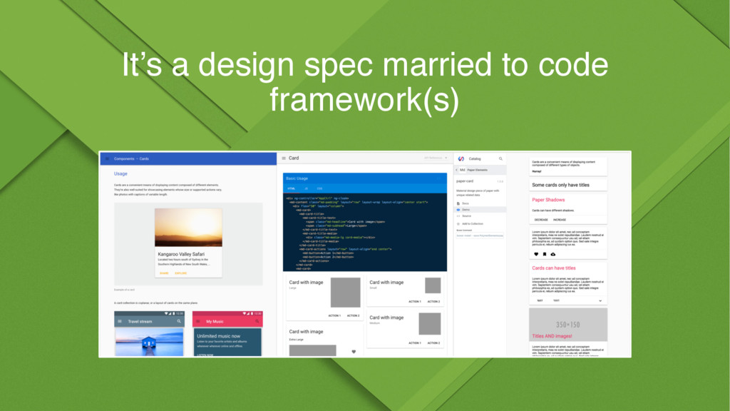 It's a design spec married to code framework(s)