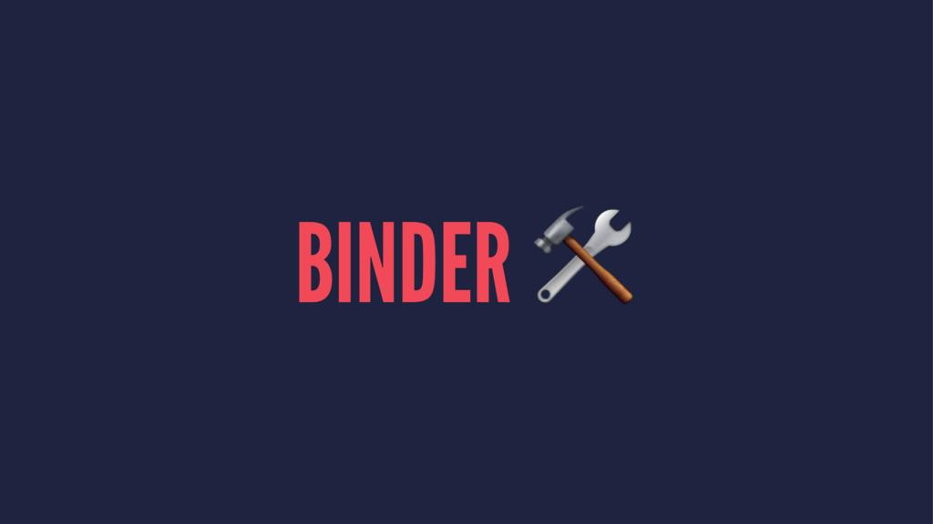 BINDER !