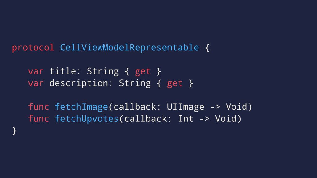 protocol CellViewModelRepresentable { var title...