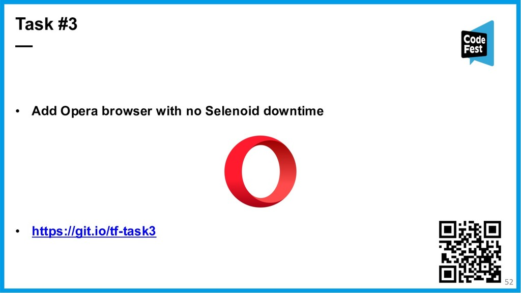 • Add Opera browser with no Selenoid downtime •...