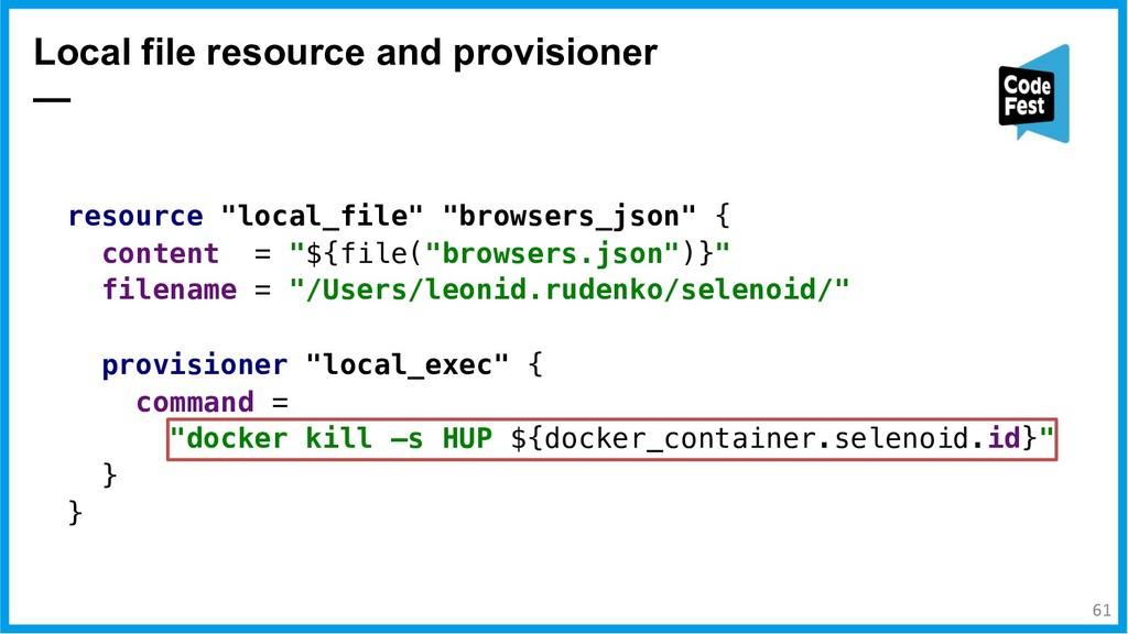 Local file resource and provisioner — resource ...