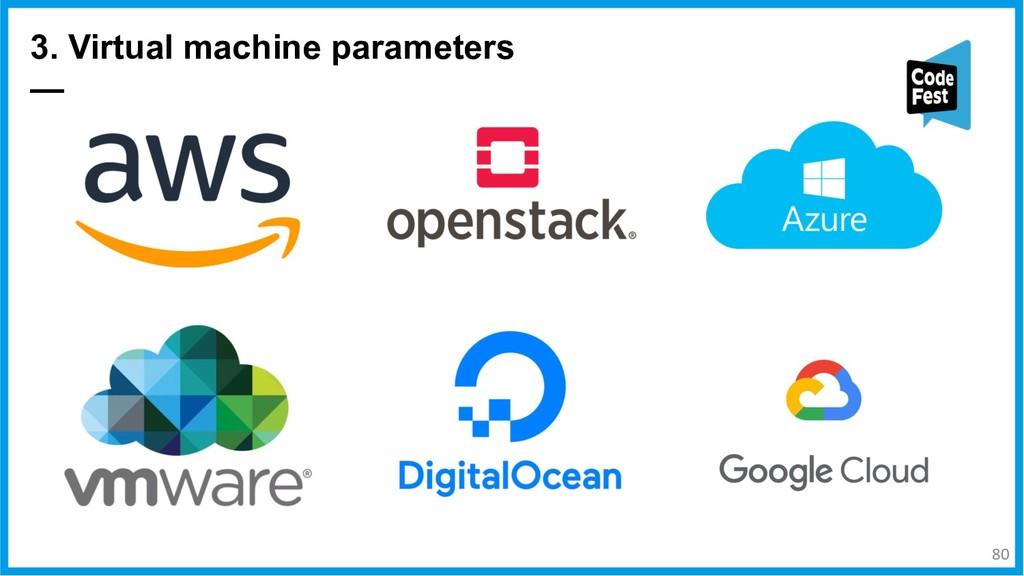 3. Virtual machine parameters — 80