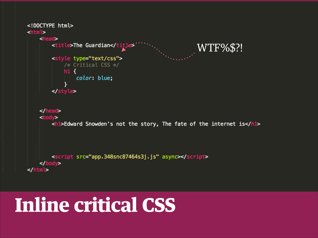WTF%$?! Inline critical CSS