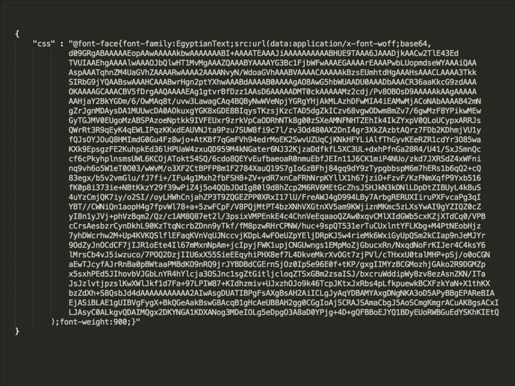 Example of base64 json'ifed fonts