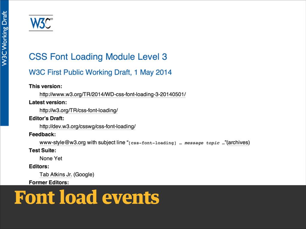 Font load events