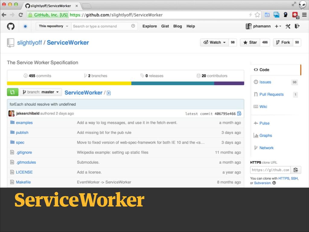 service worker ServiceWorker