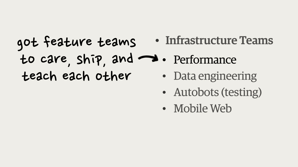 • Infrastructure Teams ! • Data engineering • A...