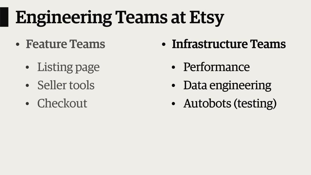Engineering Teams at Etsy • Feature Teams • Lis...