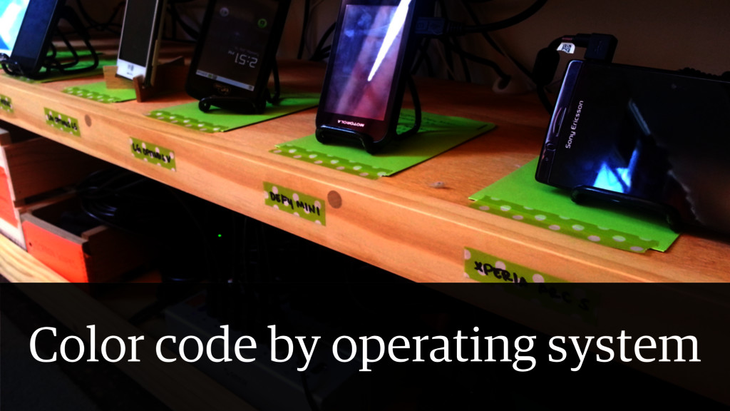 Other Device Lab Lessons • Color coding Color c...