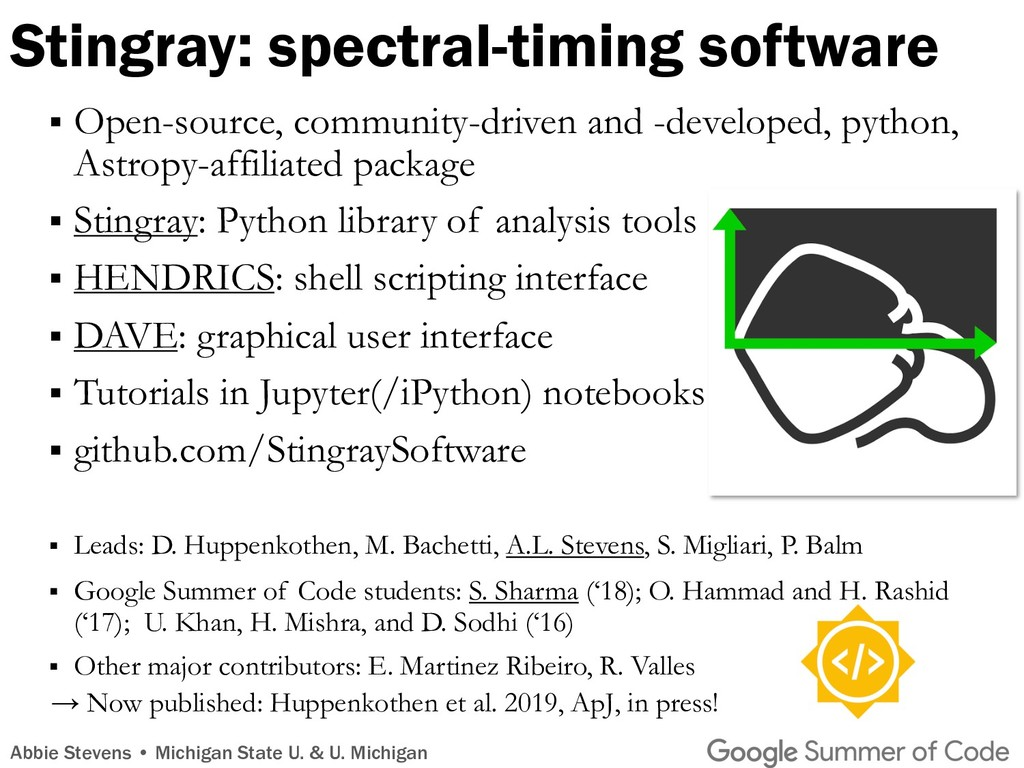 Stingray: spectral-timing software § Open-sourc...