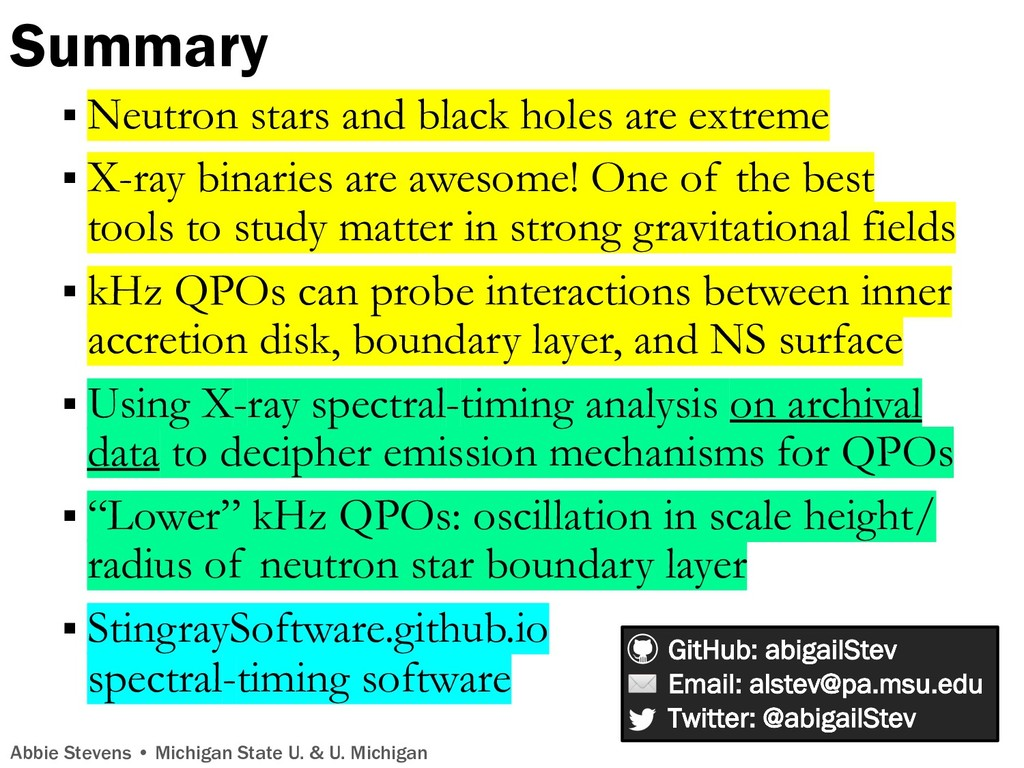 Summary § Neutron stars and black holes are ext...