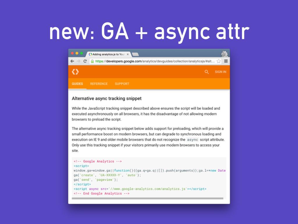 new: GA + async attr