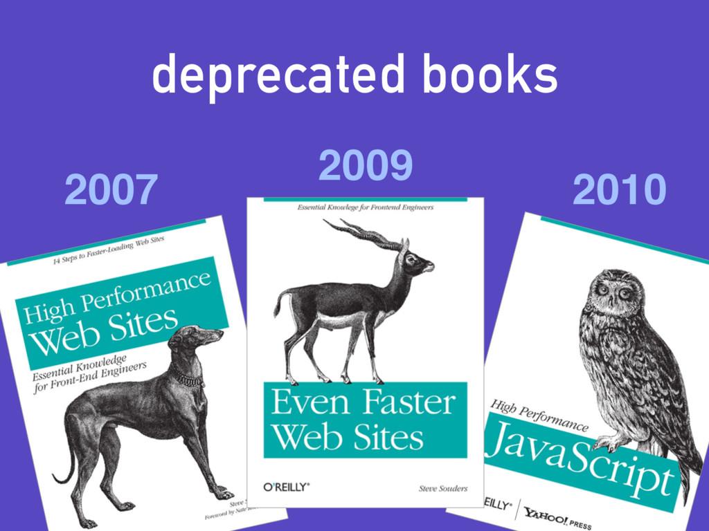 deprecated books 2007 2009 2010