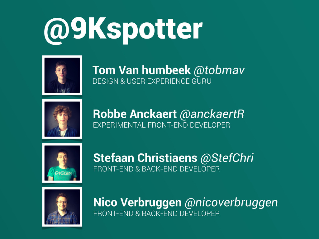 Tom Van humbeek @tobmav DESIGN & USER EXPERIENC...