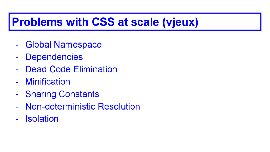 Problems with CSS at scale (vjeux) - Global Nam...